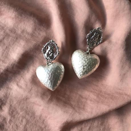 Medal Heart earring