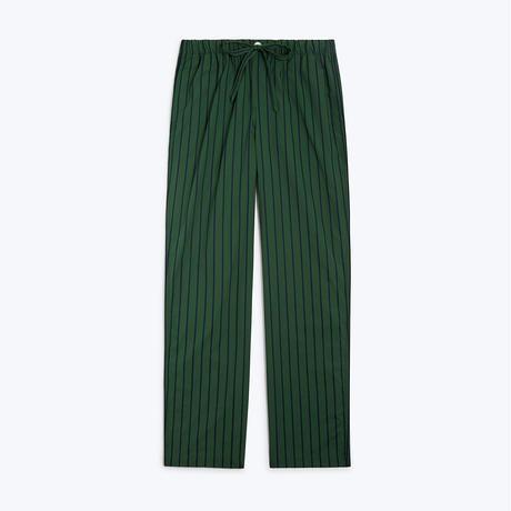 SLEEPY JONES // Marina Pajama Pant Tie Stripe Green & Navy