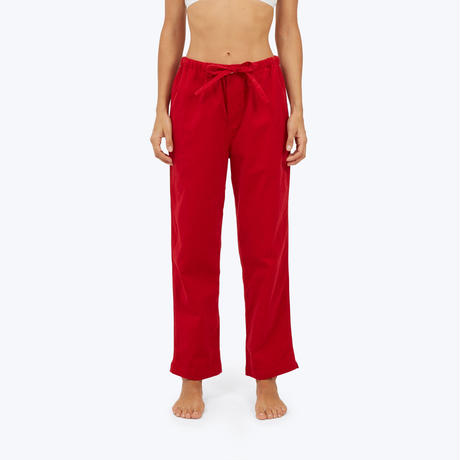 SLEEPY JONES // Marina Pajama Pant Pinwale Cord Red