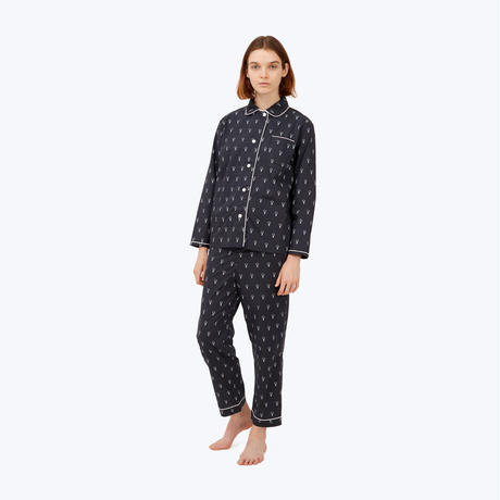 SLEEPY JONES // DLF Bishop Pajama Set Black&White Lightbulbs