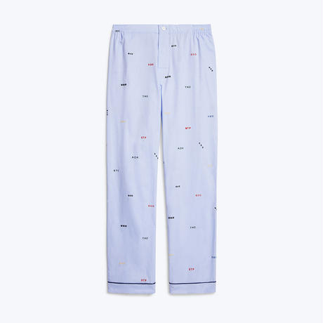 SLEEPY JONES // Marcel Pajama Pant Monogram Oxford Blue