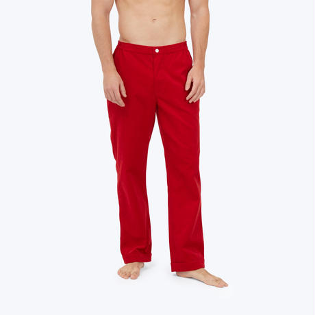 SLEEPY JONES // Marcel Pajama Pant Pinwale Cord Red