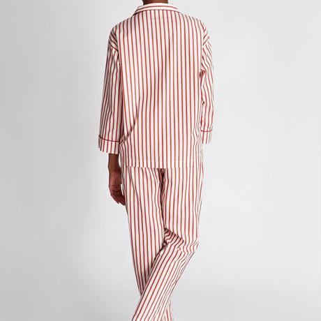 SLEEPY JONES / Marina Pajama Set Breton Stripe Red & Cream