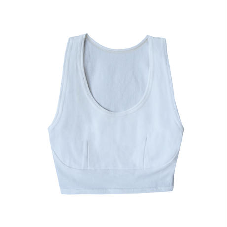 hazelle tank croptop light blue