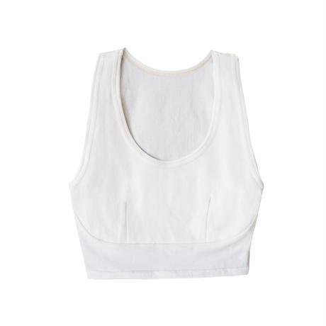hazelle tank croptop white