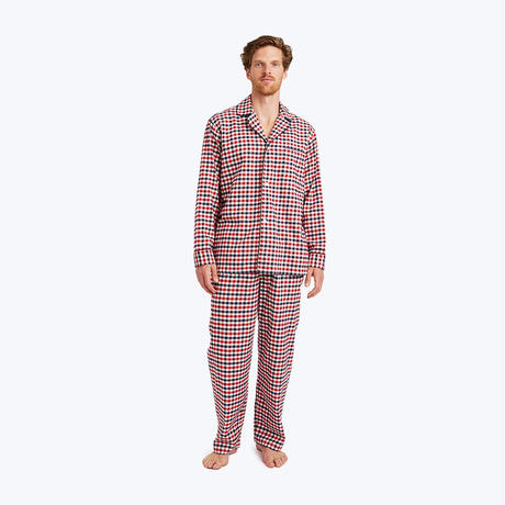 SLEEPY JONES // Lowell Pajama Set Gingham Flannel