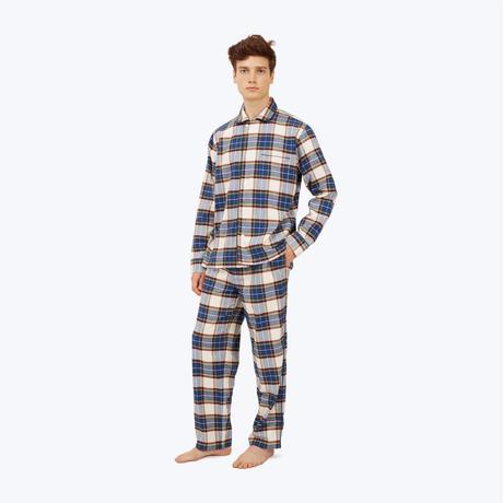 SLEEPY JONES // Lowell Pajama Set Cream Flannel Plaid