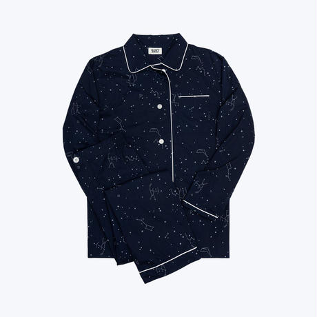 SLEEPY JONES // Bishop Pajama Set Constellation Navy