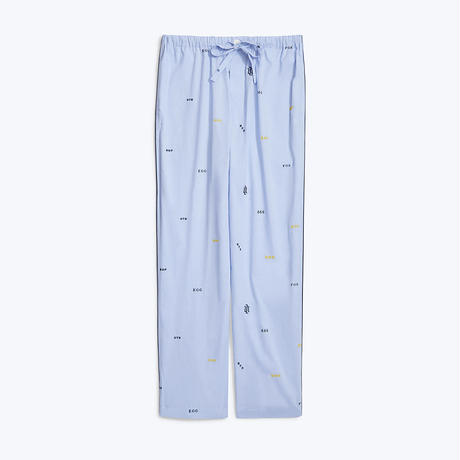 SLEEPY JONES // Marina Pajama Pant Monogram Oxford Blue