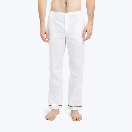 SLEEPY JONES // Marcel Pajama Pant End on End White