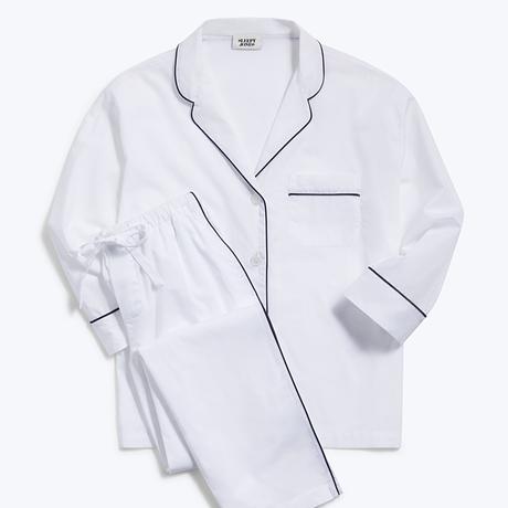 SLEEPY JONES / Marina Pajama Set End on End White