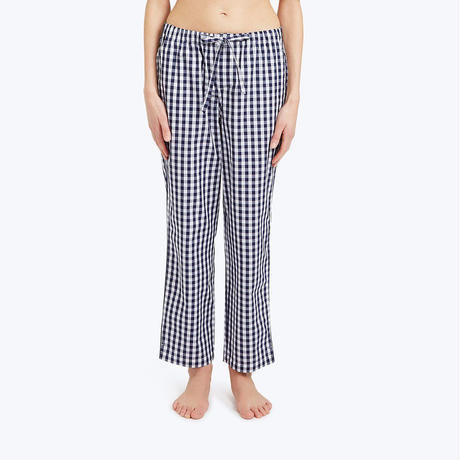 SLEEPY JONES // Marina Pajama Pant Large Gingham Navy