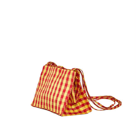 COMING OF AGE / GINGHAM RED YELLOW CROSSBODY LADY BAG