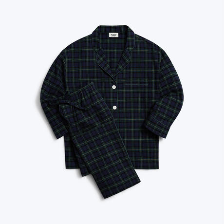 SLEEPY JONES // Marina Pajama Set Blackwatch Flannel Green