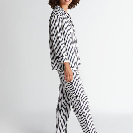 SLEEPY JONES / Marina Pajama Set Breton Stripe Navy & Cream