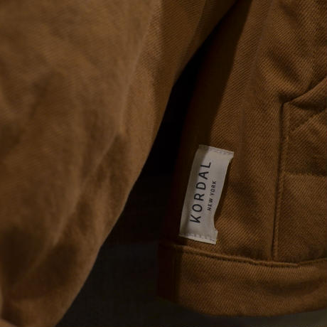 KORDAL Cropped Quilted Jacket Clay