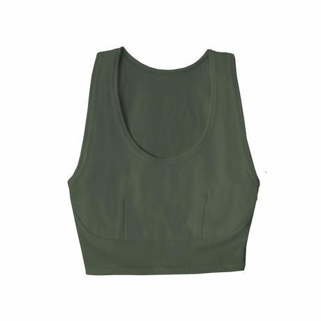 hazelle tank croptop dark green