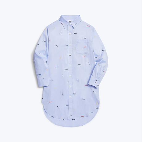 SLEEPY JONES // KORDA NIGHT SHIRT MONOGRAM OXFORD