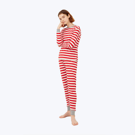SLEEPY JONES // Helen Legging Red Slub Stripe