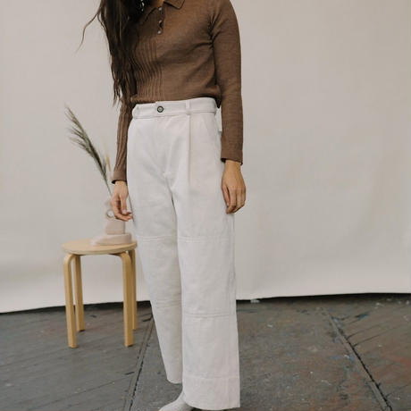 KORDAL / Laura Collared Sweater Chestnut