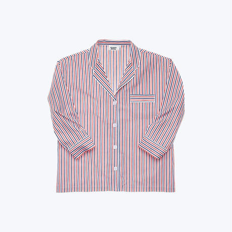 SLEEPY JONES // Marina Pajama Shirt Thin Multistripe