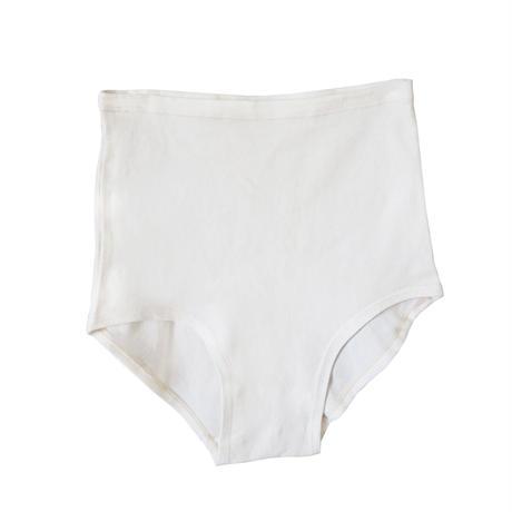 hazelle / hi-waist white