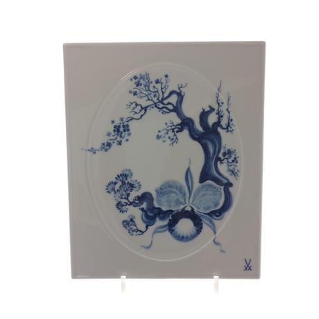 【マイセン】陶画「オーキッド」