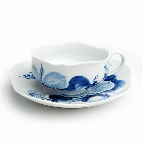 マイセン (Meissen) ブルーオーキッド ティーカップ&ソーサー 23633