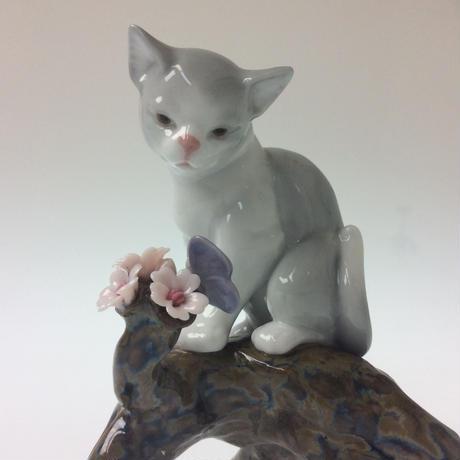 【リヤドロ】桜の咲くころ―仔猫  8382