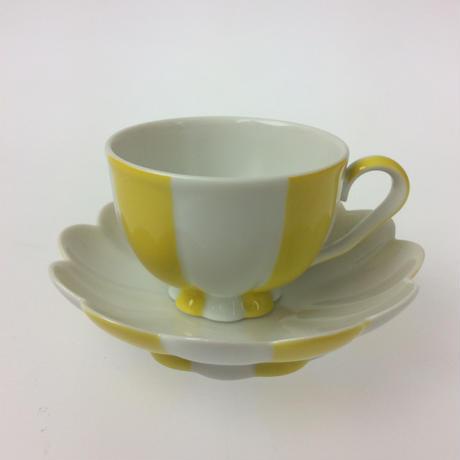 【アウガルテン】メロン(ホフマン)イエロー モカカップ&ソーサー