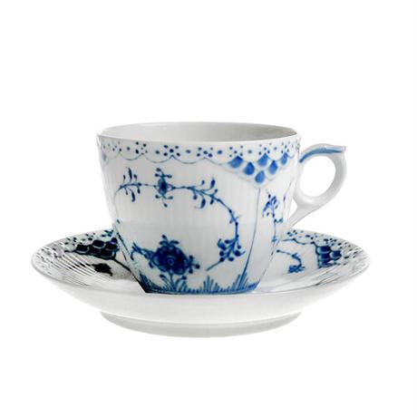 ロイヤルコペンハーゲン ブルーフルーテッド ハーフレース コーヒーカップ&ソーサー 102-071