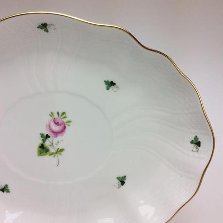 ヘレンド  ウィーンのバラ  シンプル オーバルディッシュ26cmプレート  1211