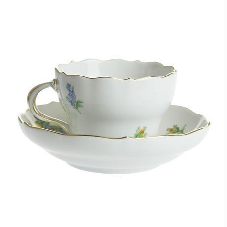 マイセン  (Meissen) イエローローズとわすれな草 コーヒーカップ&ソーサー 582