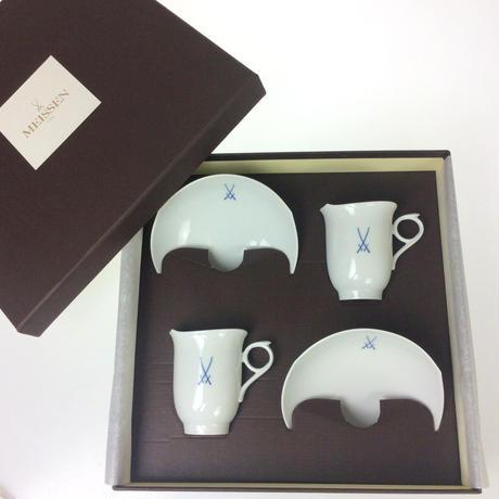 ★12月限定の特別価格★【マイセン】NEWマイセンマーク コーヒーカップ&ソーサー ペア