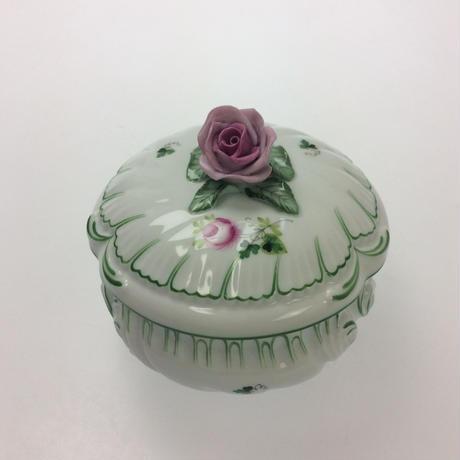 【ヘレンド】ウィーンのバラ ラウンドボックス 12cm 6035