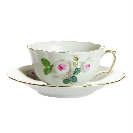 マイセン(Meissen) ホワイトローズ 029510/00633 ティーカップ&ソーサー 150ml