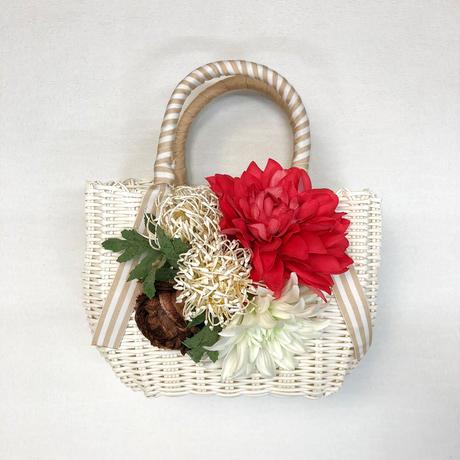 Flower Bag White M    【Dahlia pincushion】