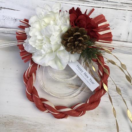 お正月飾り [赤マーブル]