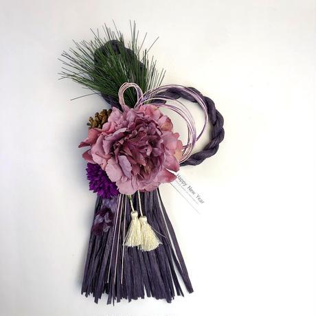 お正月飾り [wine /pink /purple]  双葉タイプ