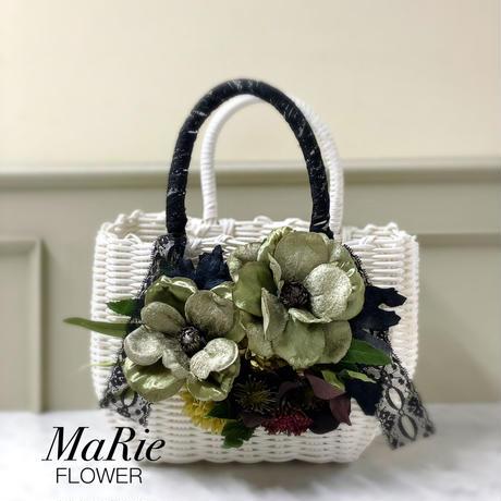 Flower Bag White M    【Anemone Green】