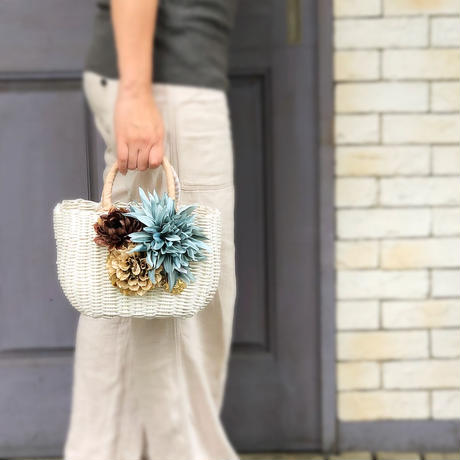 Flower Bag White M    【Aqua】