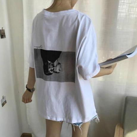 2018夏新作 レディース トップス Tシャツ ブラウス カジュアル ゆったり■lady988