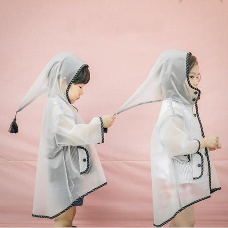 レインコート 子供 透明 可愛い 男女兼用 梅雨対策 レインポンチョ レインウェア 雨具