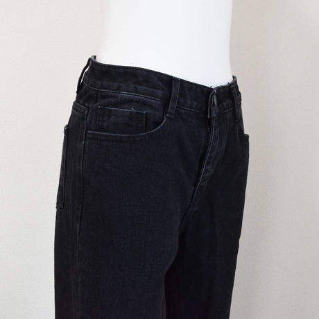 Black Straight Denim