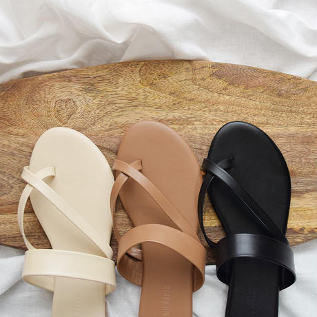 [ RE-ARRIVAL ]Tong Strap Flat Sandals