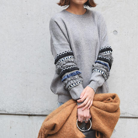 [ RE-ARRIVAL ]デザインスリーブKNIT