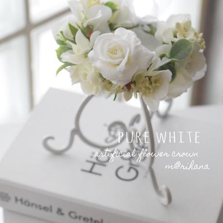 【ご予約】ピュアホワイト・花かんむり