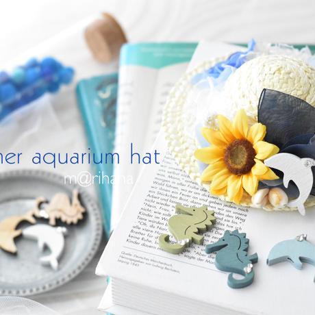 【予約】summer ☆アクアリウムハット(ビジュー付き)