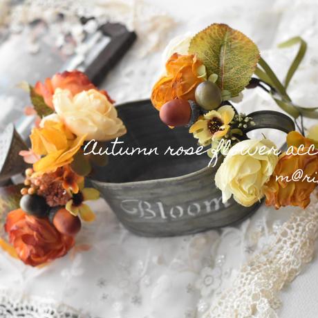 Autumnローズ花かんむり