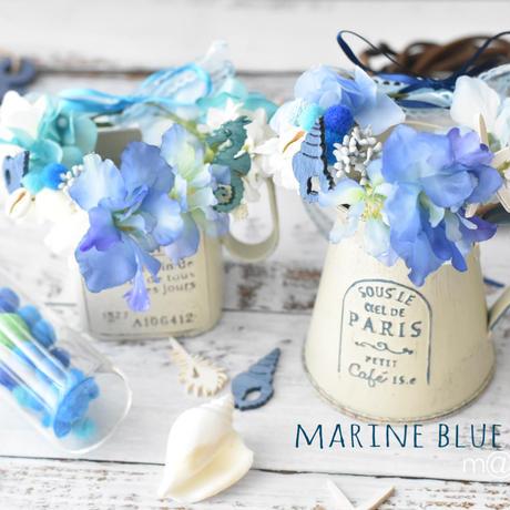 【限定】マリンブルー花かんむり